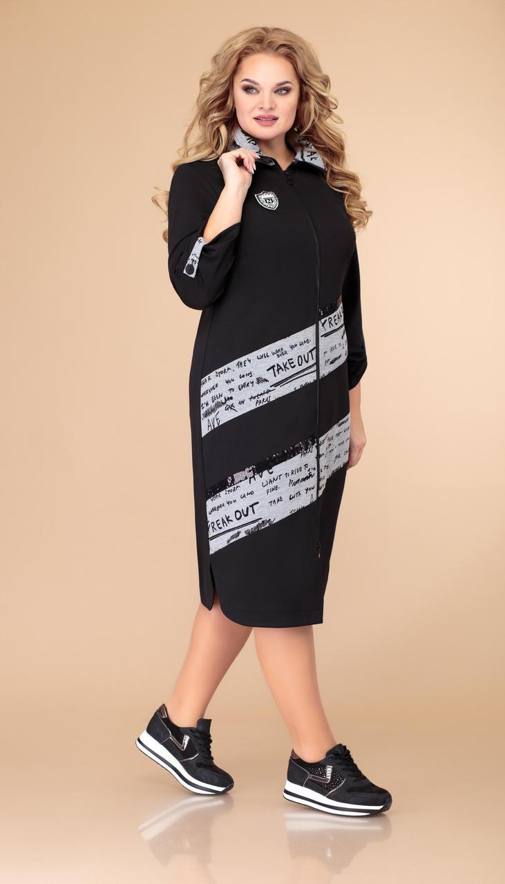 Платье Svetlana Style-1475 белорусский трикотаж, черный, 52