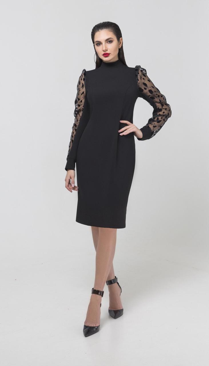 Платье Foxy Fox-247 белорусский трикотаж, черный, 44
