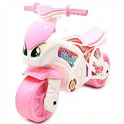 Детский Мотоцикл толокар беговел Технок «Fancy Bike» для девочек, 72х52х35 см (6450)