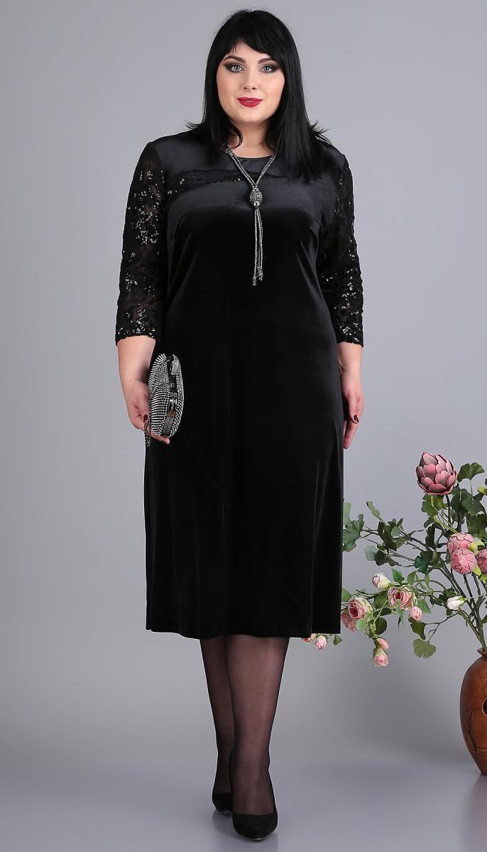 Платье Novella Sharm-3647 белорусский трикотаж, черный, 60