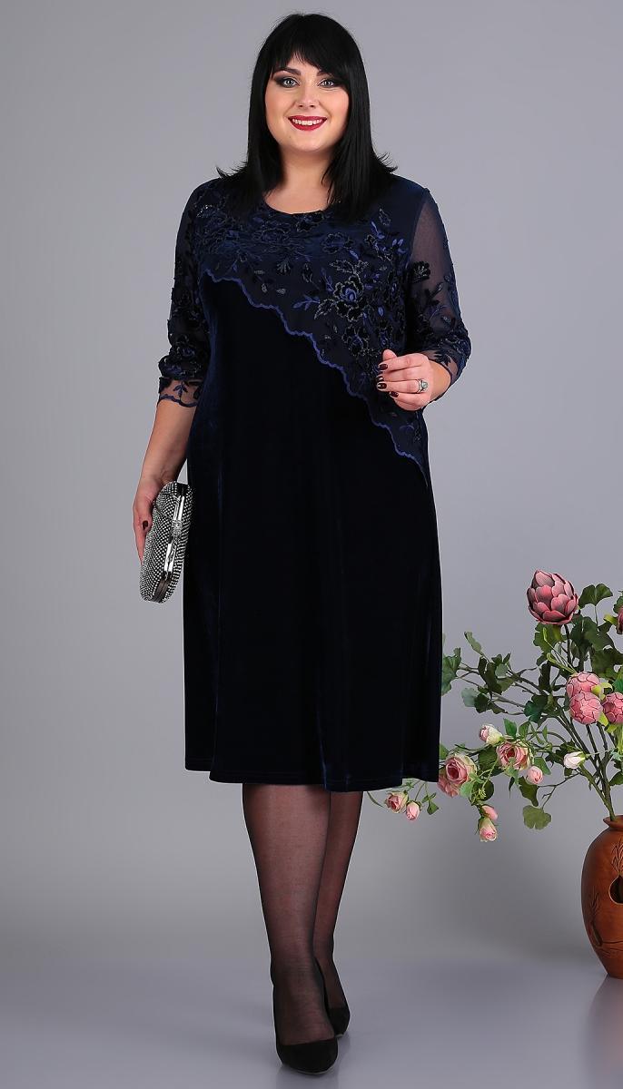 Платье Novella Sharm-3649 белорусский трикотаж, темно-синий, 60
