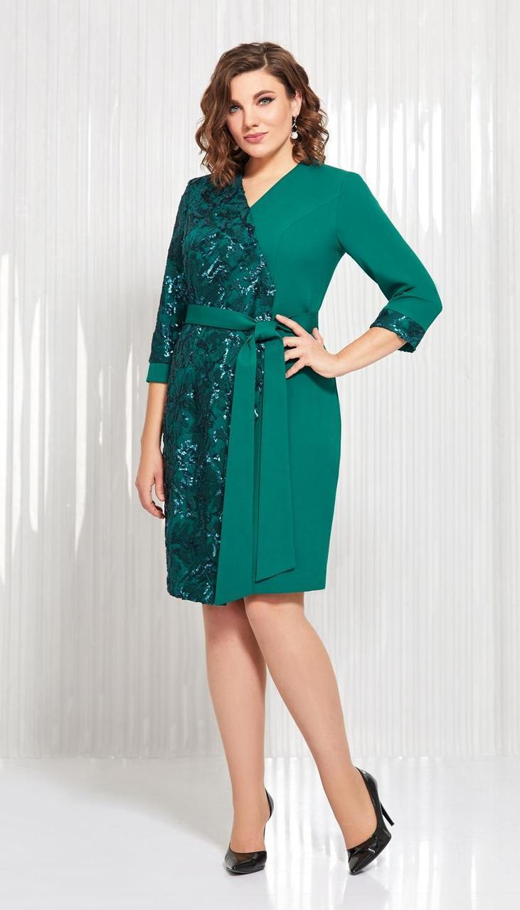 Сукня AGATTI-3547 білоруський трикотаж, смарагд, 48