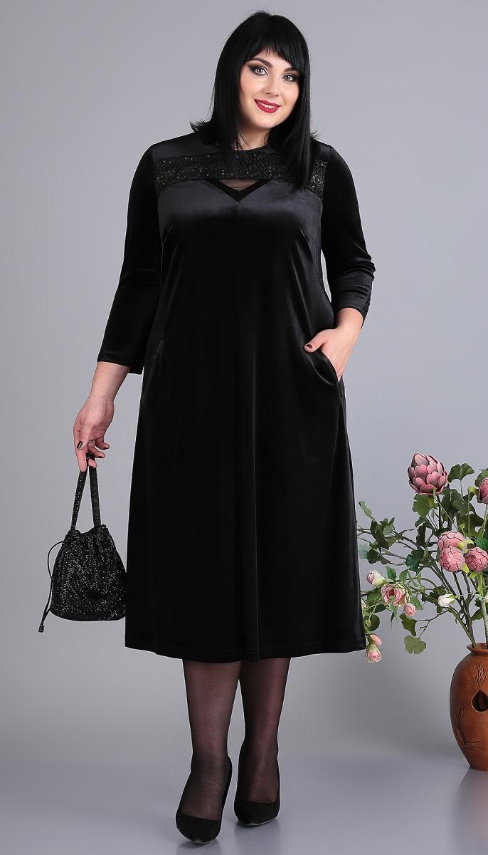Сукня Novella Sharm-3651 білоруський трикотаж, чорний, 60