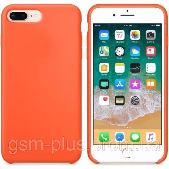 Чохол Silicone Case для iPhone 7 Plus, iPhone 8 Plus OR Orange