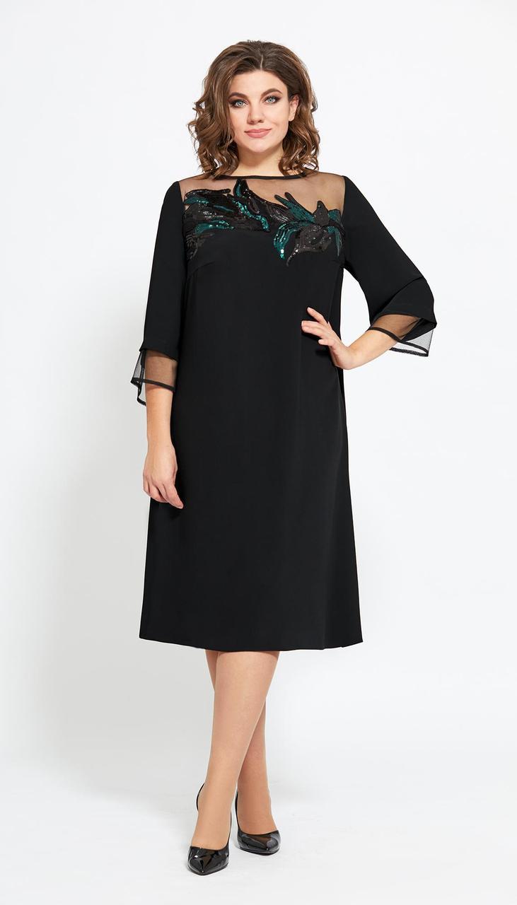 Платье Мублиз-476/1 белорусский трикотаж, черный, 58