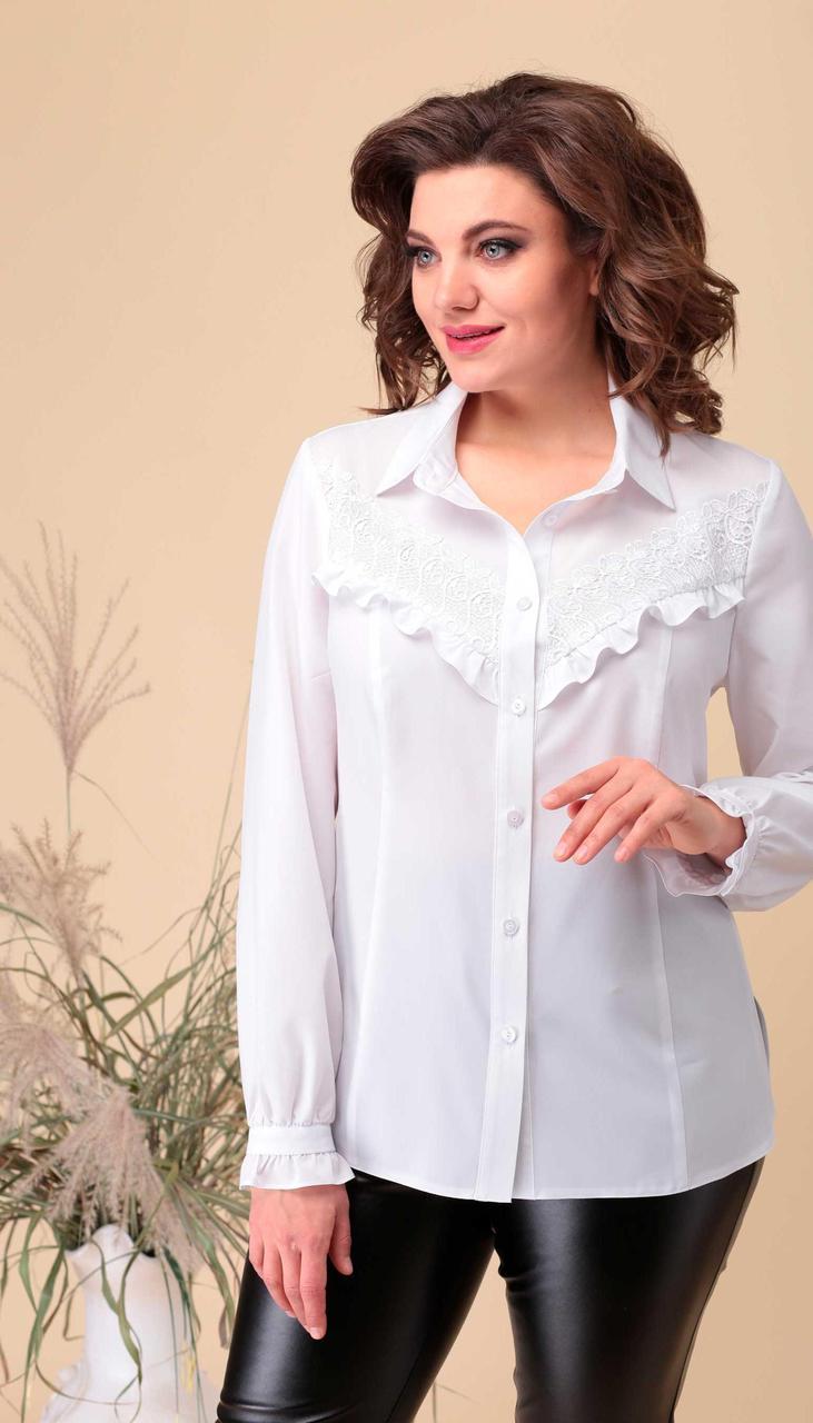 Блузка Асолия-4061 білоруський трикотаж, білий, 50