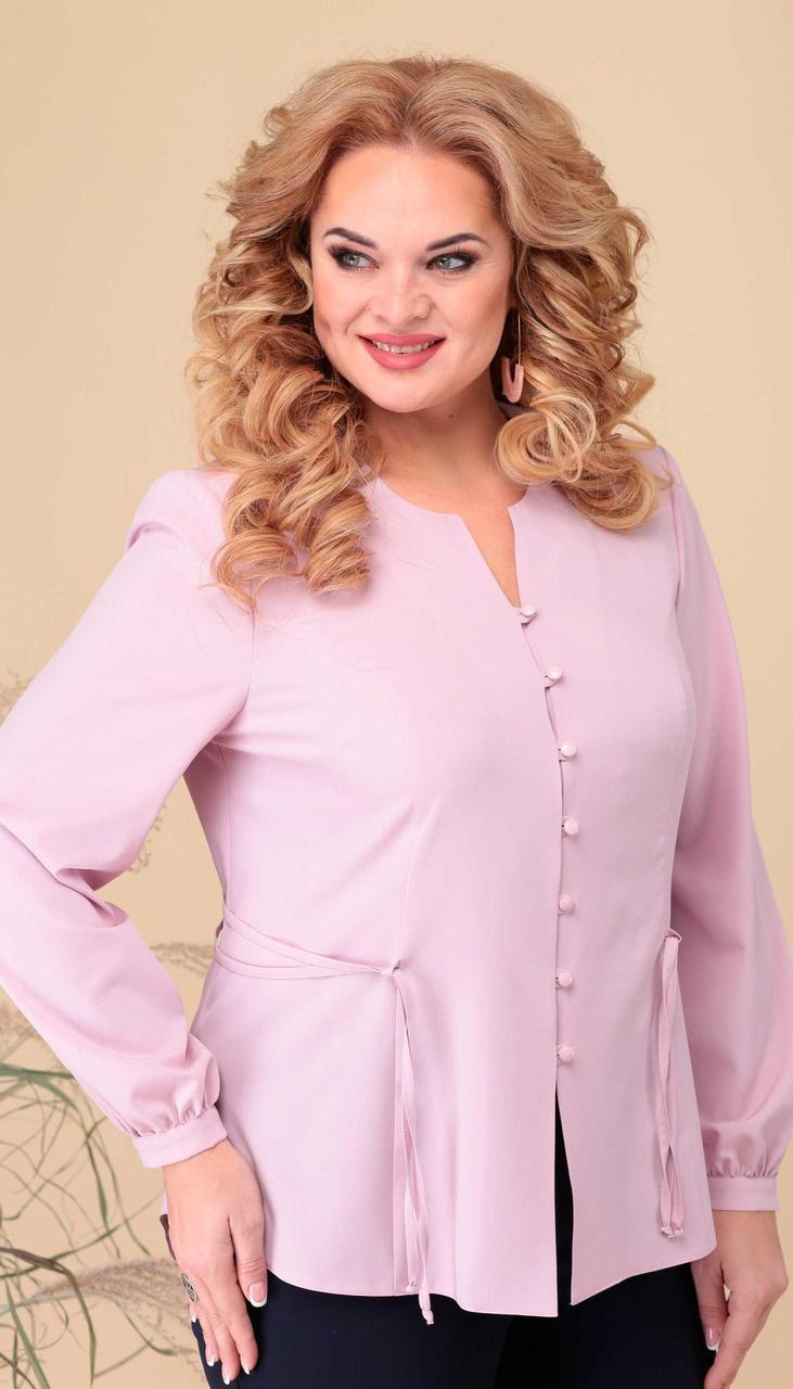 Блузка Асолия-4063 белорусский трикотаж, розовый , 54