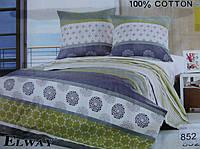 Сатиновое постельное белье семейное ELWAY 852