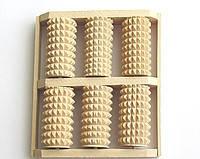Массажер для ног деревянный Счеты зубчатые из колючей из березы