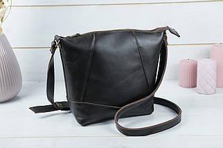 Жіноча шкіряна сумка Діамант, натуральна Гладка шкіра, колір коричневый, відтінок Шоколад, фото 3
