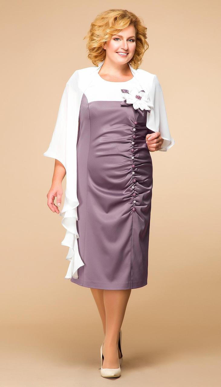 Платье Romanovich-1-916/6 белорусский трикотаж, лиловый, 50