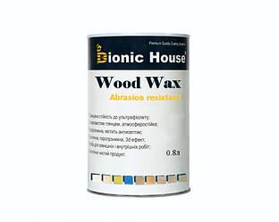 Лазурь-лак восковый BIONIC-HOUSE WOOD WAX для древесины 0,8л