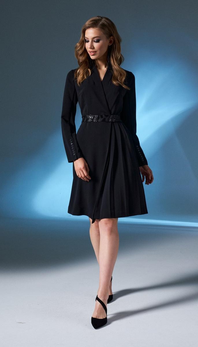 Платье Prestige-4026 белорусский трикотаж, черный, 44