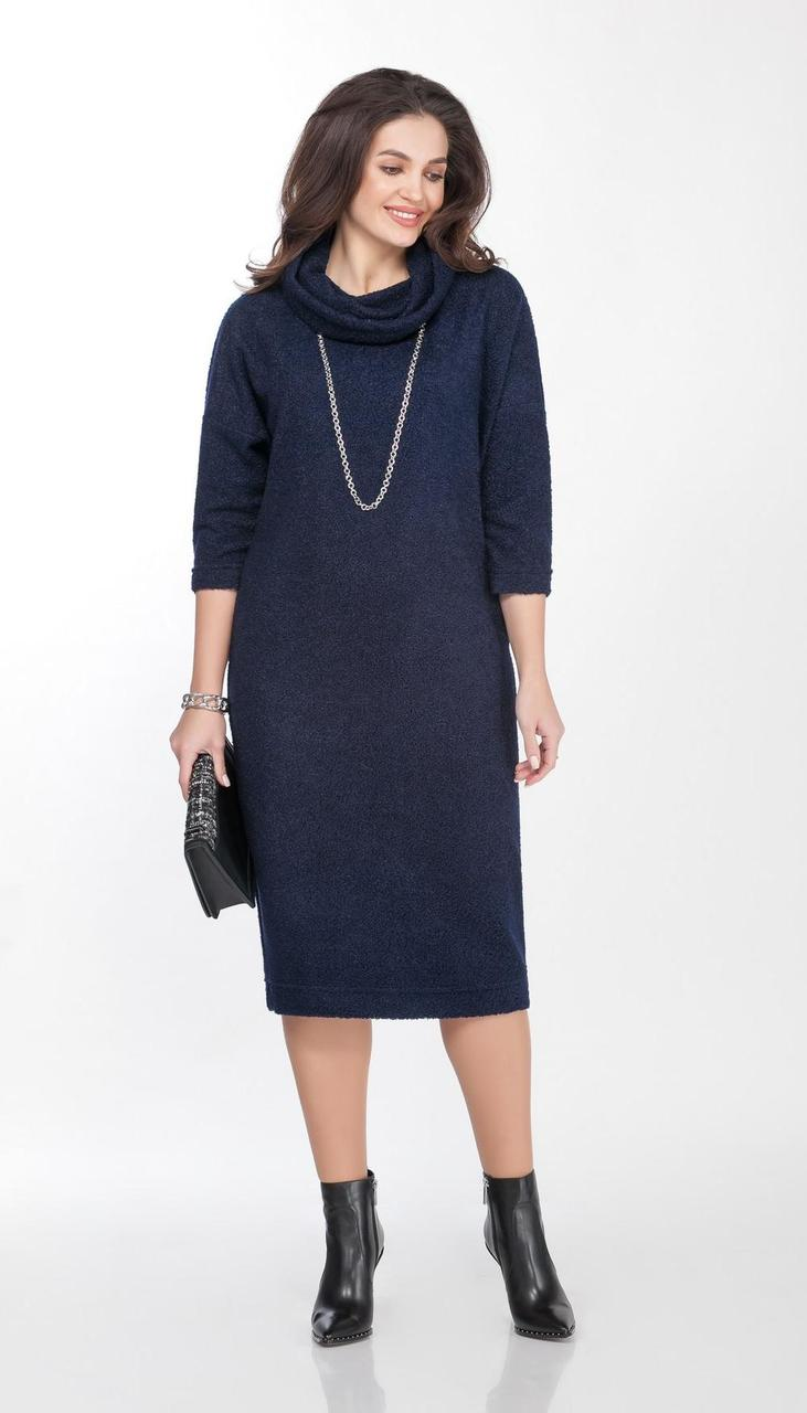 Сукня TEZA-2028 білоруський трикотаж, синій, 48