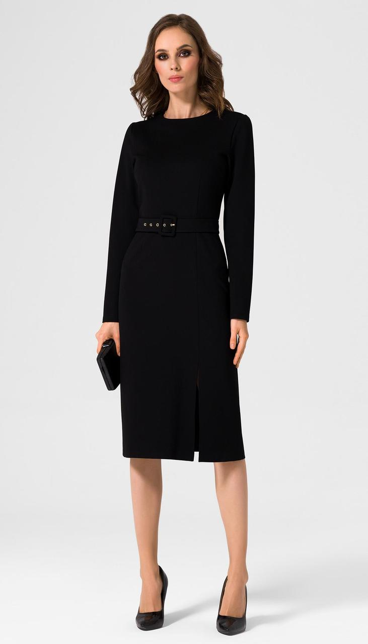 Платье Prio-20080 белорусский трикотаж, черный, 42