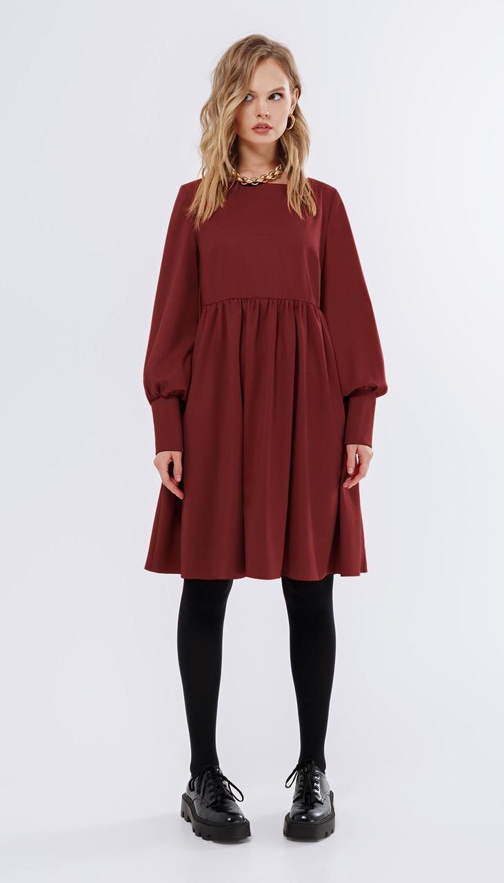 Платье PiRS-1686/3 белорусский трикотаж, бордо, 40