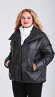 Куртка Диамант-1601/2 белорусский трикотаж, черный + белый, 42, фото 1