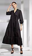 Платье Kaloris-1658 белорусский трикотаж, черный, 42, фото 1