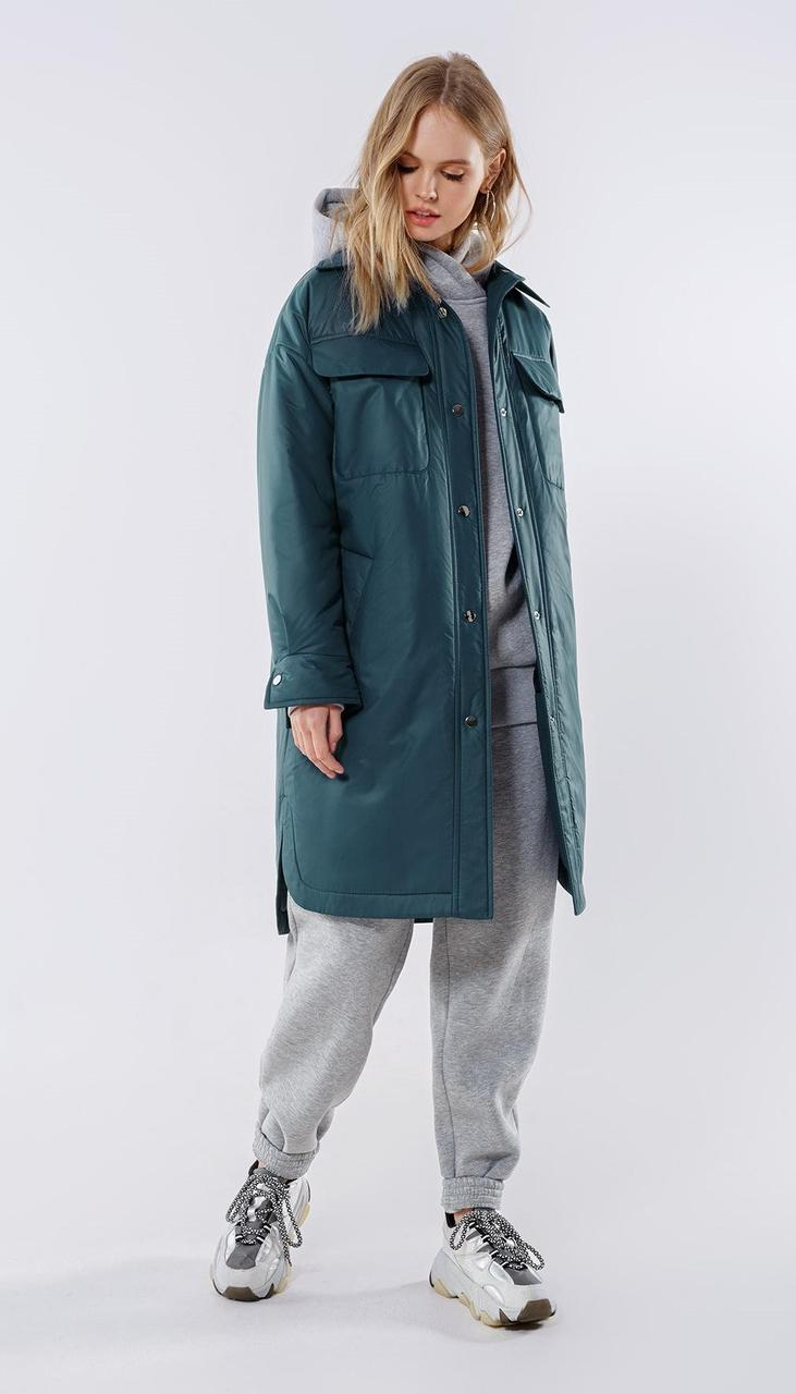 Куртка PiRS-2016/3 белорусский трикотаж, изумруд, 40