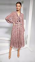 Платье Kaloris-1664 белорусский трикотаж, розовый , 42, фото 1