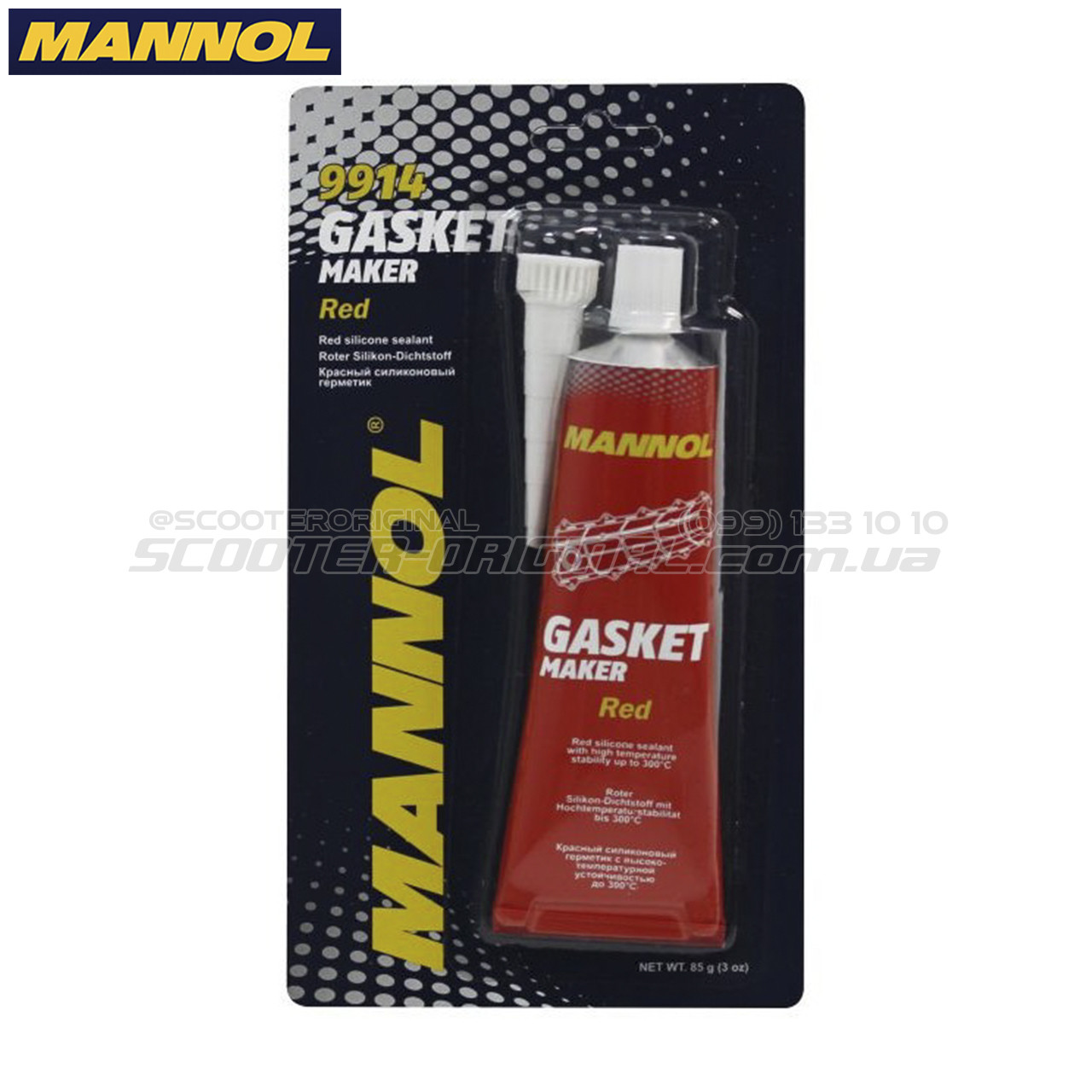 Герметик MANNOL 9914 Silicone-Gasket +300°C (85 мл)