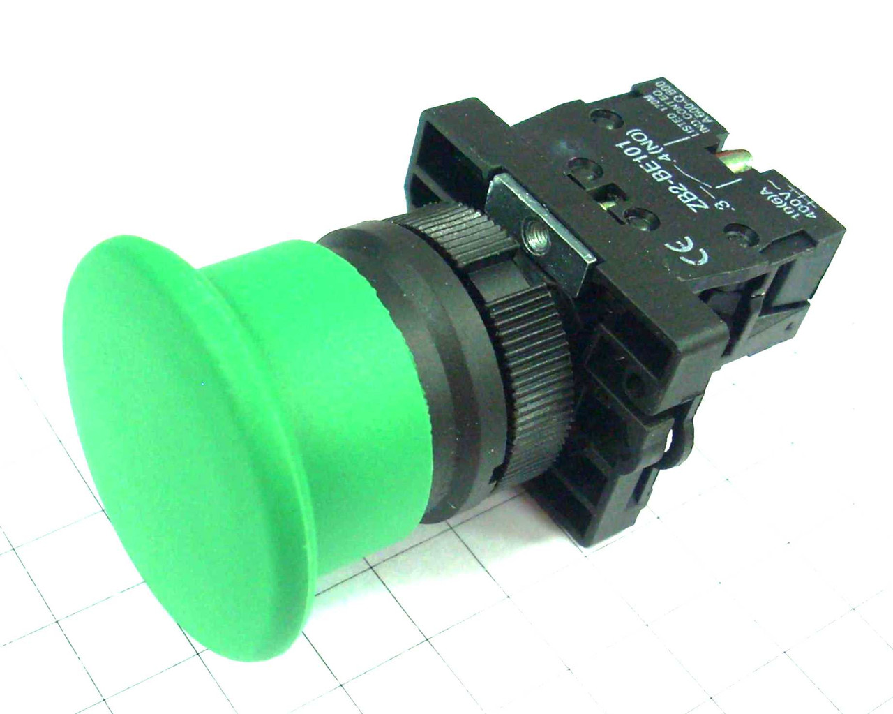 "Кнопка ""грибок"" d40мм без фиксации NP2-EC32 (1NC) зелёная пласт. СНІNT"