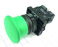 "Кнопка ""грибок"" d40мм без фиксации NP2-EC32 (1NC) зелёная пласт. СНІNT, фото 1"