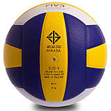 М'яч волейбольний Клеєний PU MIK VB-0017 MV-210 (PU, №5, 5 сл., клеєний), фото 3
