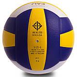 Мяч волейбольный Клееный PU MIK VB-0017 MV-210 (PU, №5, 5 сл., клееный), фото 3