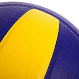 Мяч волейбольный Клееный PU MIK VB-0017 MV-210 (PU, №5, 5 сл., клееный), фото 4