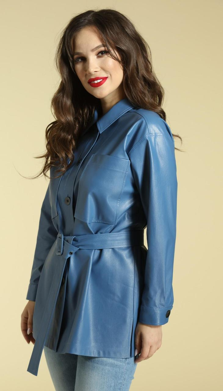 Блузка Магия Моды-1842 белорусский трикотаж, голубой, 50