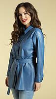 Блузка Магия Моды-1842 белорусский трикотаж, голубой, 50, фото 1