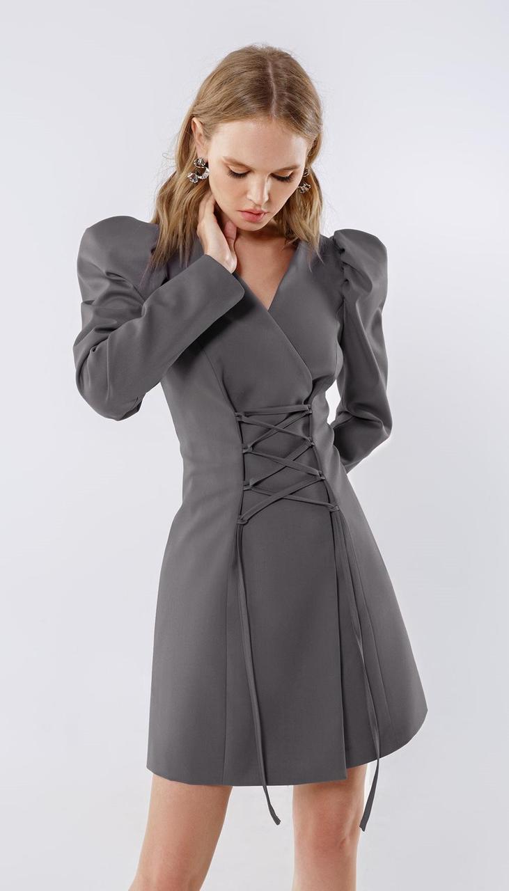 Платье PiRS-2231/2 белорусский трикотаж, серый, 40