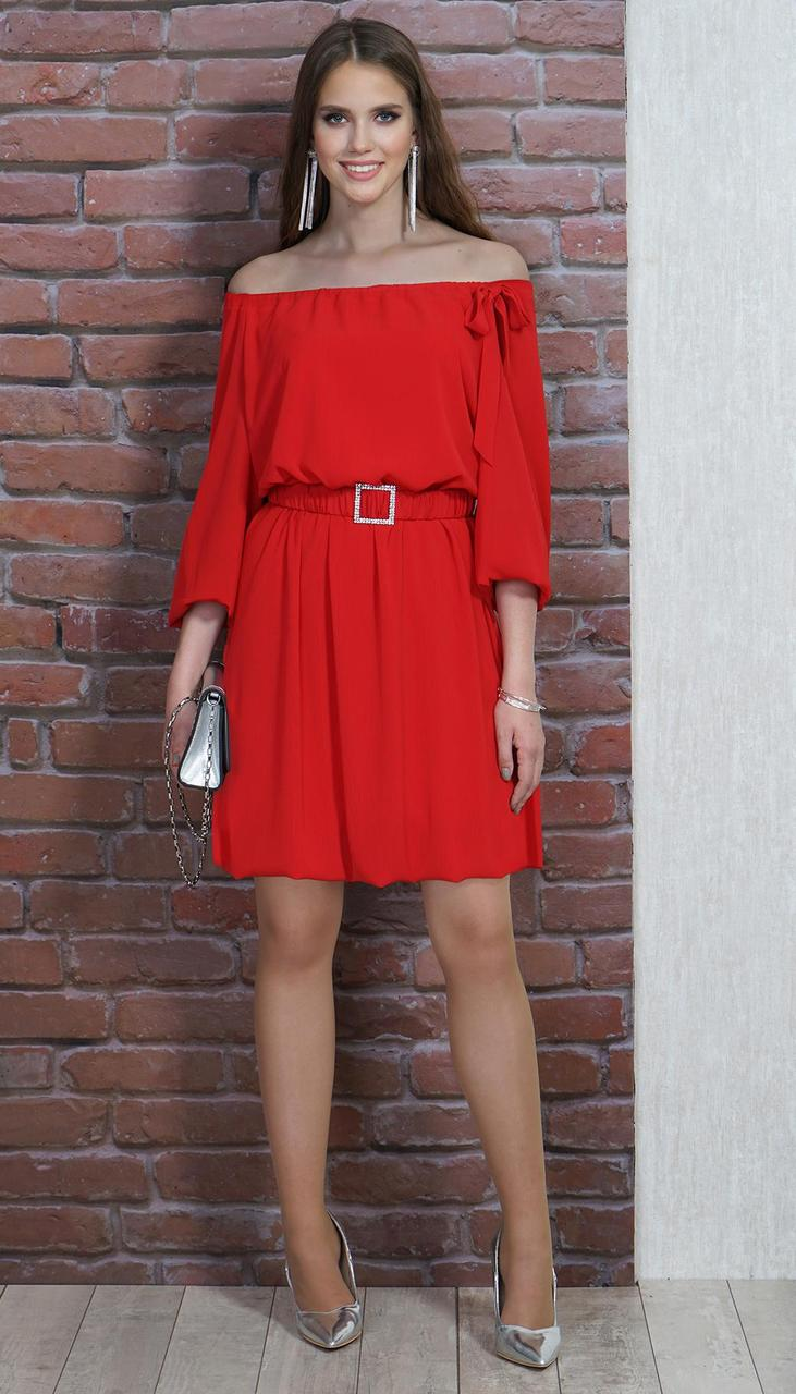 Платье Alani-1295 белорусский трикотаж, красный, 46
