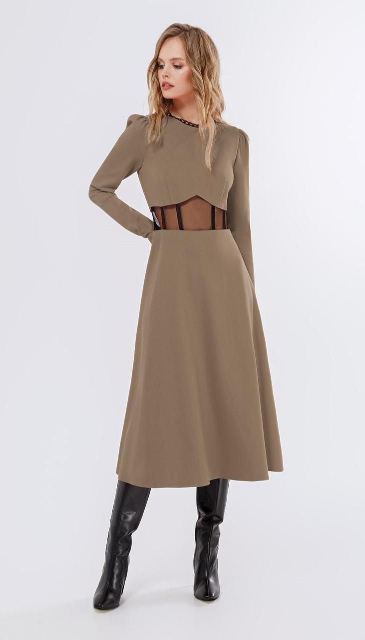 Сукня PiRS-2255/2 білоруський трикотаж, бежевий, 40