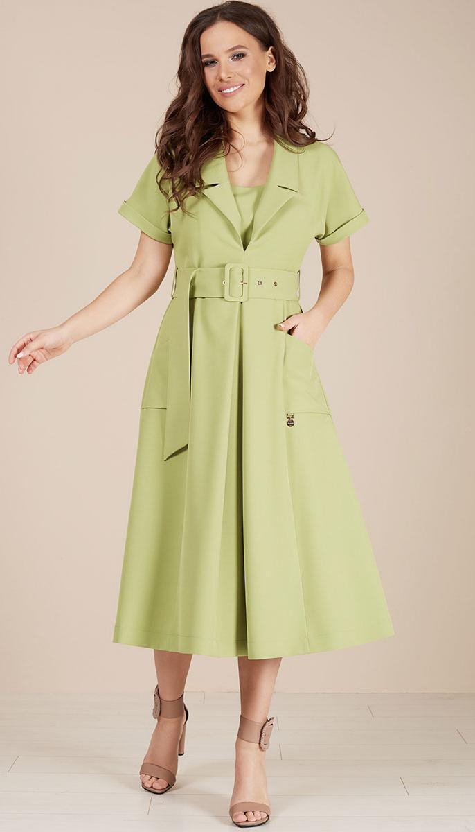 Платье TEFFI style-1482/2 белорусский трикотаж, яблоко, 44