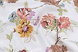Лоскут ткани Duck с коричневыми и жёлтыми цветами на тонких коричневых ветках, размер 40*90 см, фото 4
