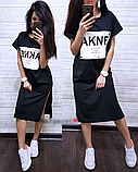 Сукня футболка міді оверсайз MR1767, фото 6