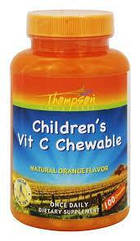 Thompson children's Vitamin C Chewable, Жувальний вітамін С для дітей (100 шт)