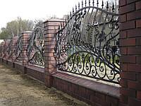 Кованой забор с заветками