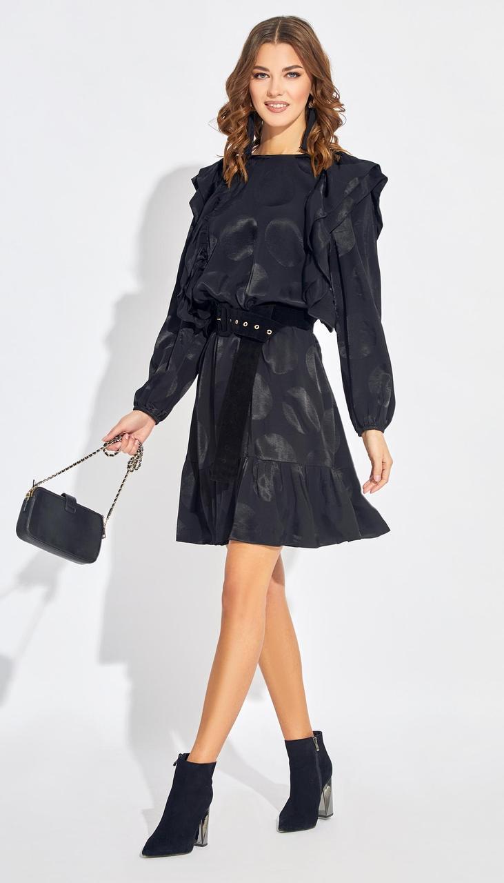 Платье Buter-2134 белорусский трикотаж, черный, 42