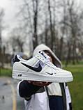 Кросівки чоловічі білі Nike Air Force Найк Аір Форс, фото 3