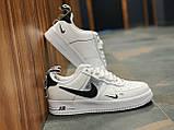 Кросівки чоловічі білі Nike Air Force Найк Аір Форс, фото 8