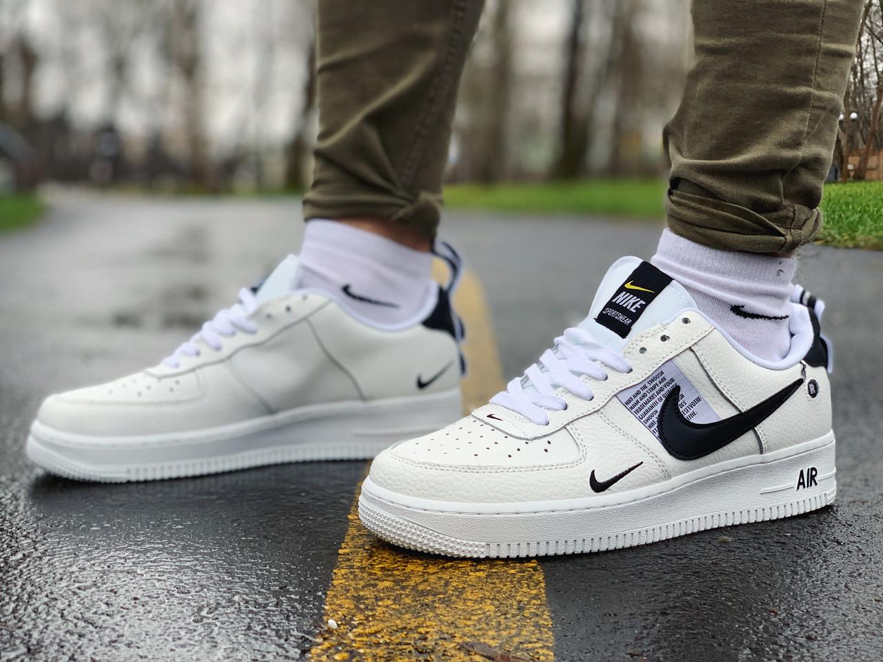 Кросівки чоловічі білі Nike Air Force Найк Аір Форс