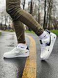 Кросівки чоловічі білі Nike Air Force Найк Аір Форс, фото 2