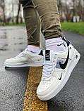 Кросівки чоловічі білі Nike Air Force Найк Аір Форс, фото 5