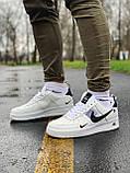 Кросівки чоловічі білі Nike Air Force Найк Аір Форс, фото 7