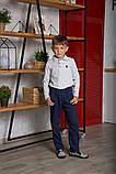 Поло для хлопчика з довгим рукавом SmileTme, сірий меланж, фото 5