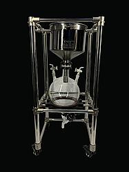 Лабораторный вакуумный всасывающий Nutsch фильтр на 10л,   из нержавеющей стали.