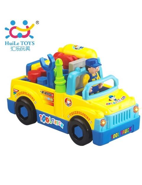 Игрушка-конструктор Huile Toys Машинка с инструментами 789
